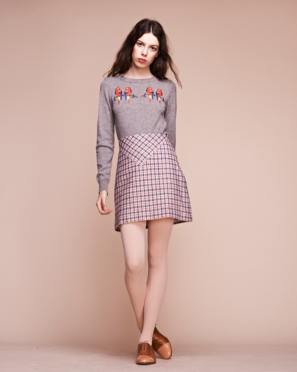 Doll-House-Parrot-Sweater-and-The-Band-Mini-Skirt