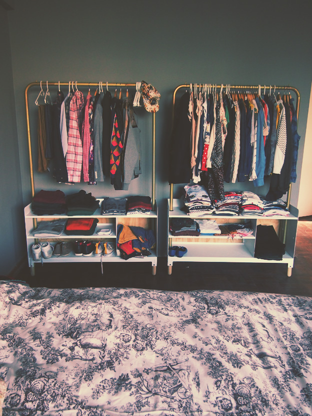 clothing storage for the bedroom