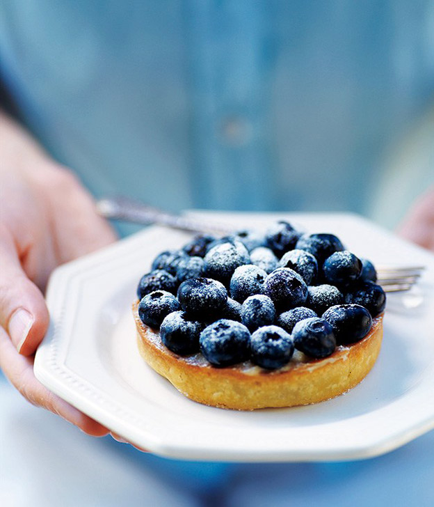 blueberry-vanilla-tart