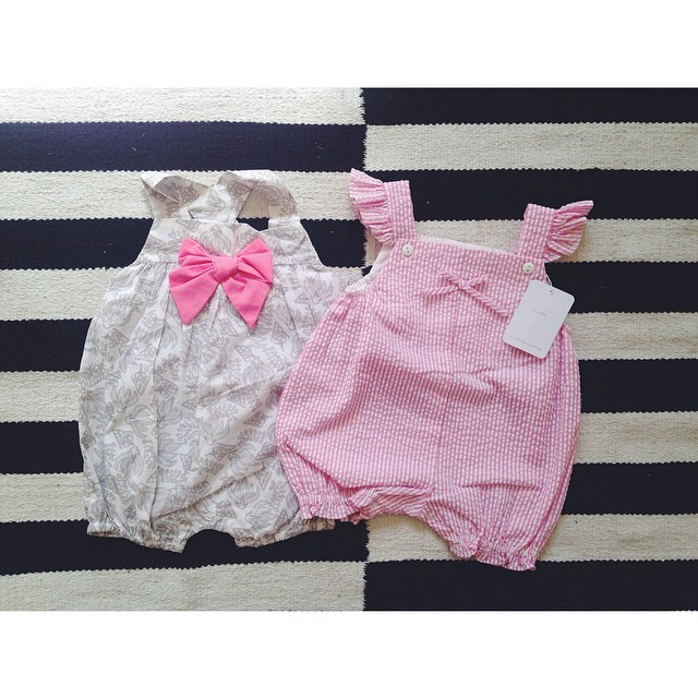 Aaa look at these sweet little rompers @korangoSA sent my Nina James. I had a look at their site, such cool stuff for kids. Shoo.