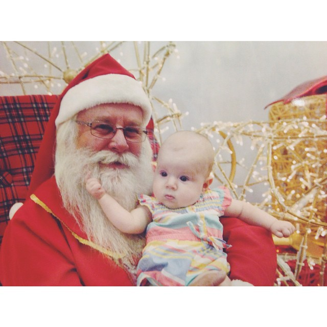 First photo with Santa @ninajamesdurrant #ninajamesdurrant