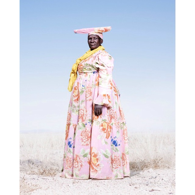 Check out this awesome portrait series by Jim Naughten on the Herero tribe members of Namibia on the blog today. Link in profile.