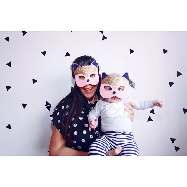 Annabelle and I had some fun with Nina James this afternoon. Thanks Aunty Misha for the second cat mask :) @ninajamesdurrant #ninajamesdurrant