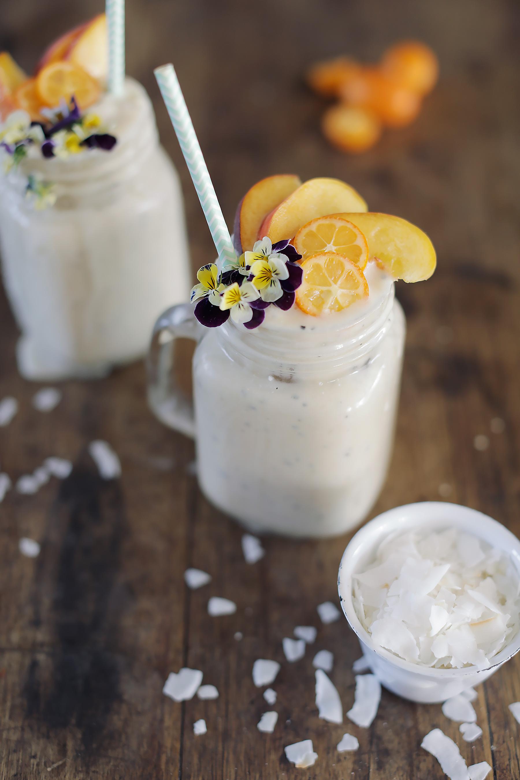 Coconut-Granadilla-and-Banana-smoothie